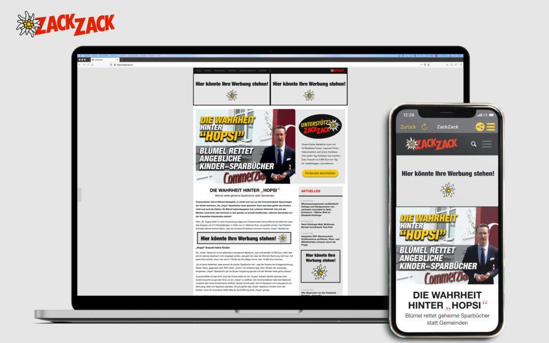 Werben auf ZackZack.at – der etwas anderen Onlinezeitung
